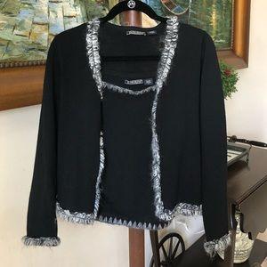 Wool shirt and sweater set.